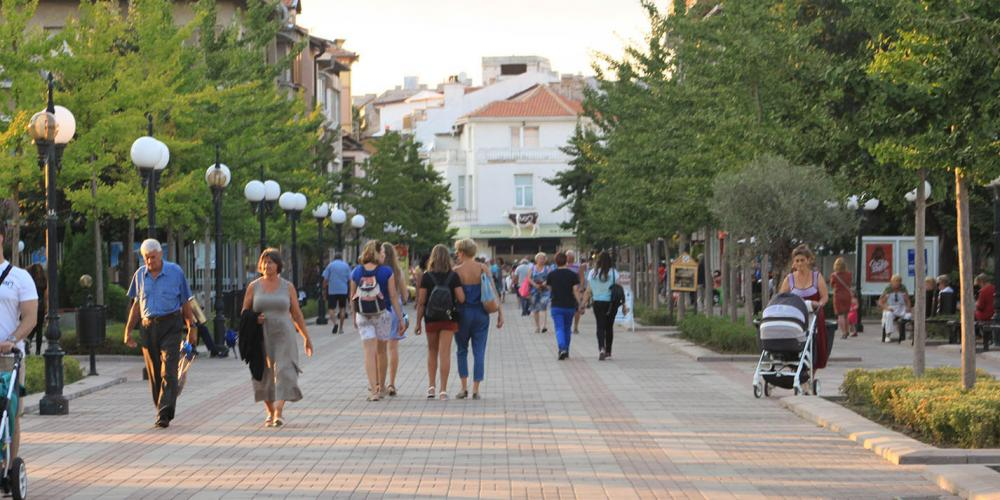 Pomorie main square of the town